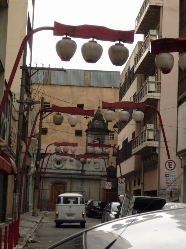 Японские фонарики в японском же квартале в Сан-Пауло