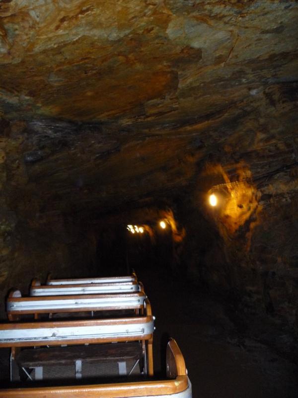 из шахты веет прохладой.