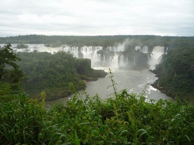 панорама водопадов