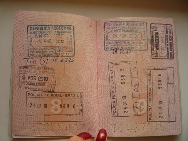 На пару часов в Аргентину. (вот так это выглядит в паспорте)