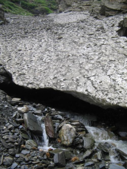 ледник на дороге