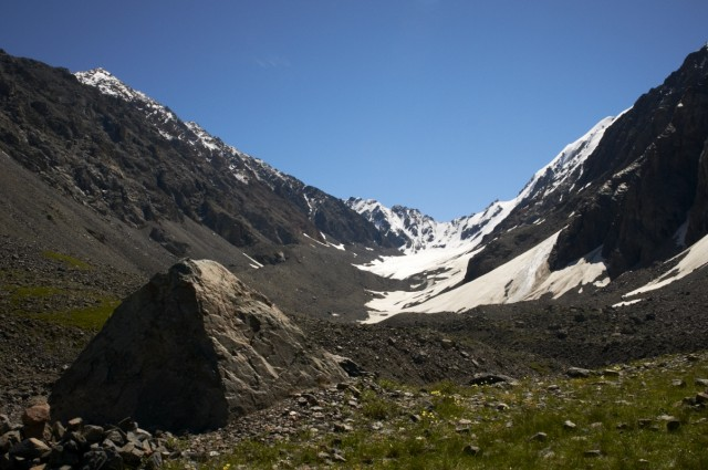 Вид на перевал со стоянки