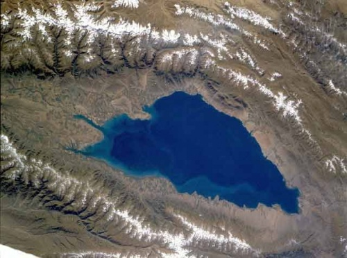 Вид на ИК из космоса