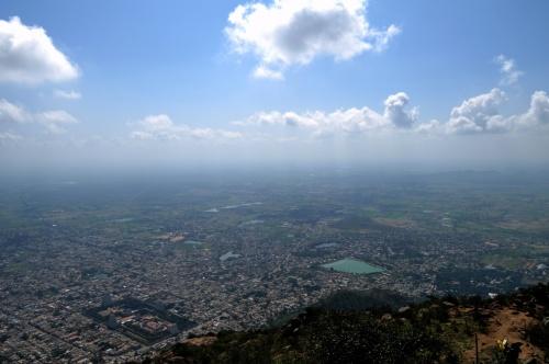 Тируваннамалаи. Вид с горы Аруначала