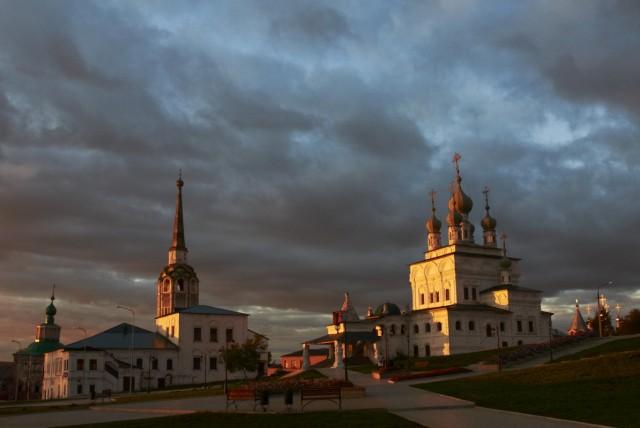 Закат над Соликамском 2