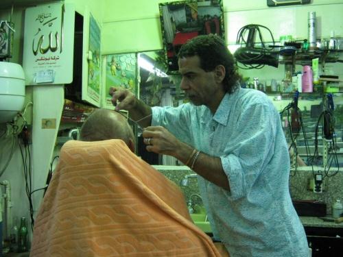 Адель Мухаммед обрабатывает мне фатлой лицо