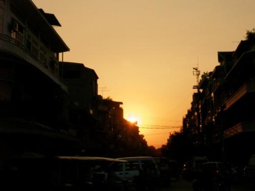 Закат в Пном Пене