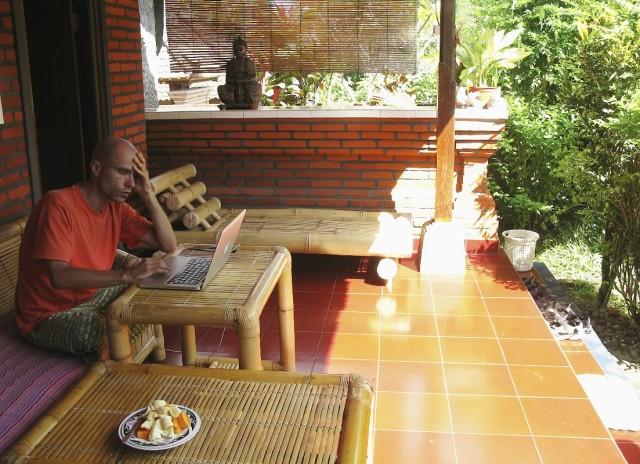 Наше балийское бунгало, где мы жили...
