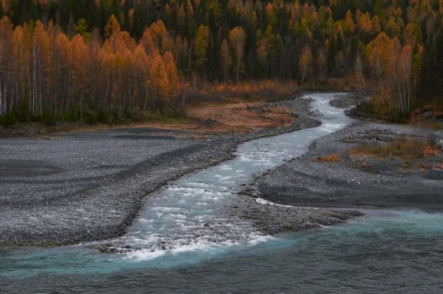 Река Аккем впадает в Катунь