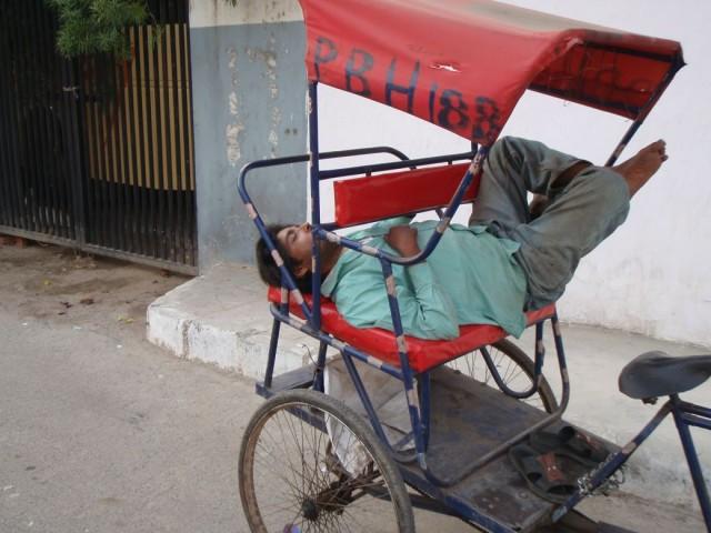 рикша на отдыхе