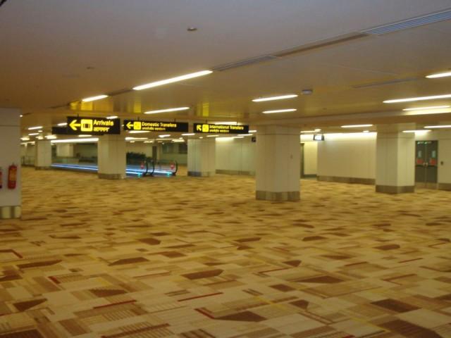 Аэропорт все в коврах