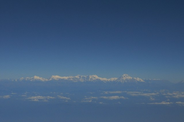 Гималаи на подлете к Катманду