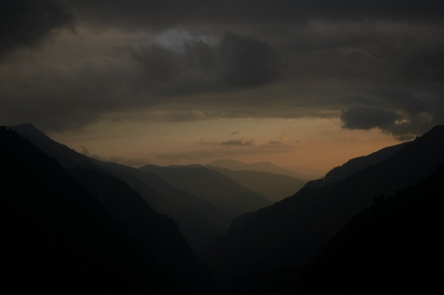 Нежный закат