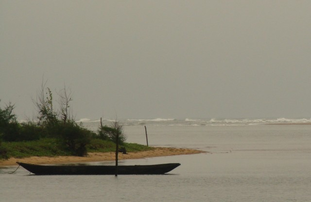 место впадения реки в океан