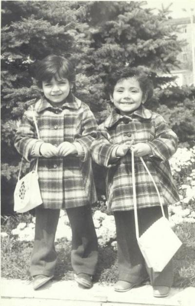 1988-й год, с сестрой..мне тут 4