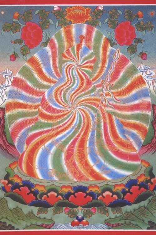 Радужное тело Гуру Падмасамбхавы, (танка)