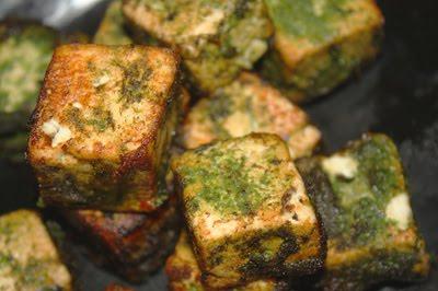 панир шашлык (в зеленом маринаде)