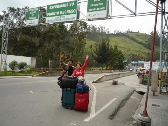 мост из Эквадора в Колумбию