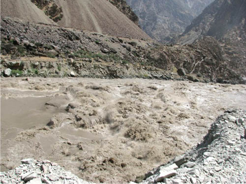 Бурлящий Пяндж..С другой стороны Афганистан