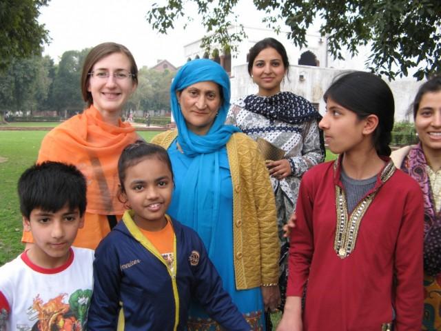 я и индийская семья из Кашмира