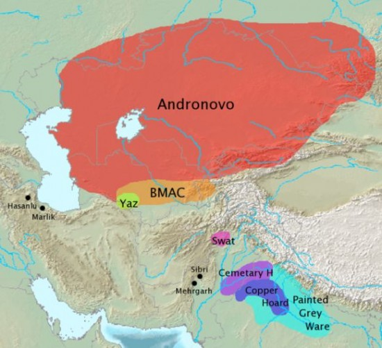 Археологические культуры, связанные с миграциями индийской ветви индоиранских народов