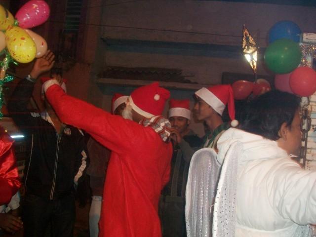 Рождество на улицах Биласпура