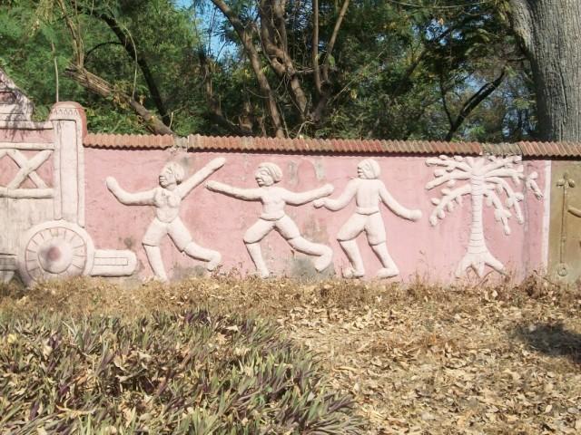 Чхаттисгарцы радостно догоняют колесницу