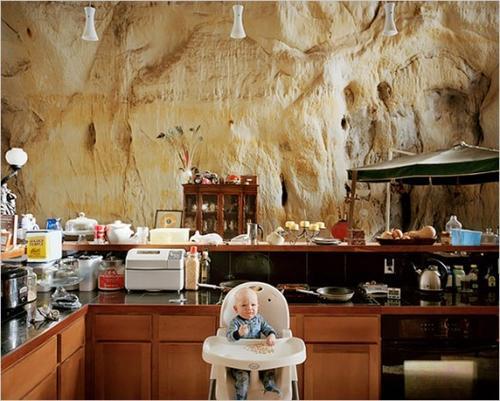 кухня в пещере