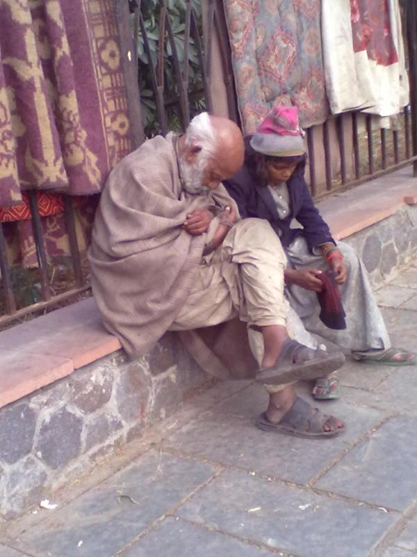 Спящий дед и сонный внук