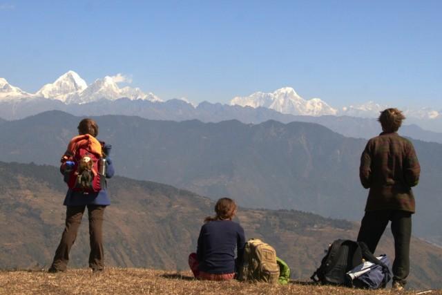 """""""Дорога к сердцу"""": мы с друзьями во время похода по непальским Гималаям. Автор фото - Moony."""