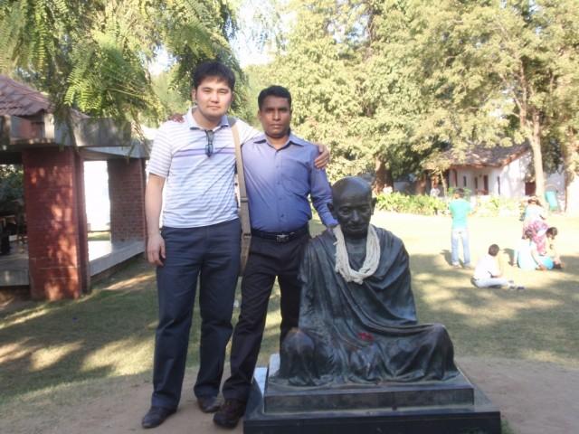 with Mr. Gandhi! )