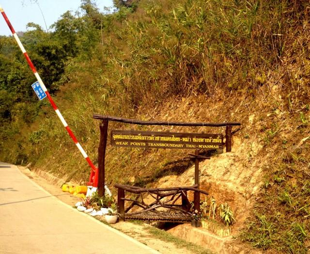 Граница между Таиландом и Мьянмой