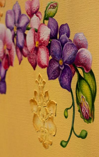 Орхидея-фрагмент картины