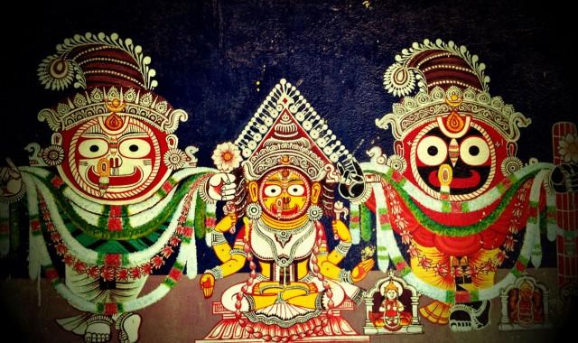 Орнамент с Джаганнатхом на причале