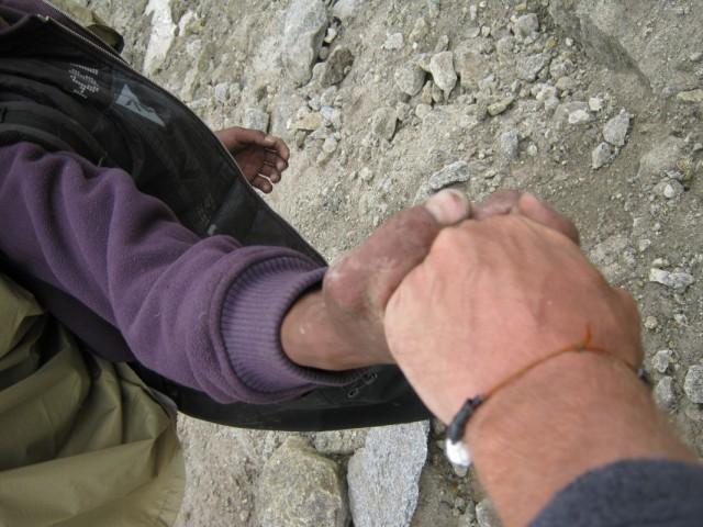 ..надемся только на крепость рук,на руки друга и вбитый крюк....