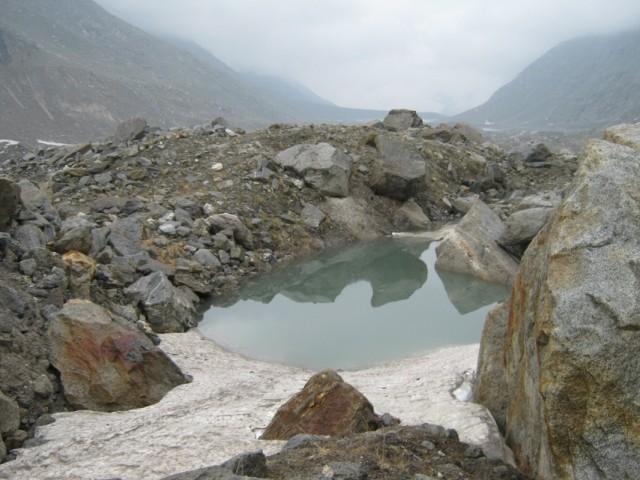 озеро в глетчере