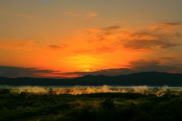 восход. Керанская долина. Бурятия