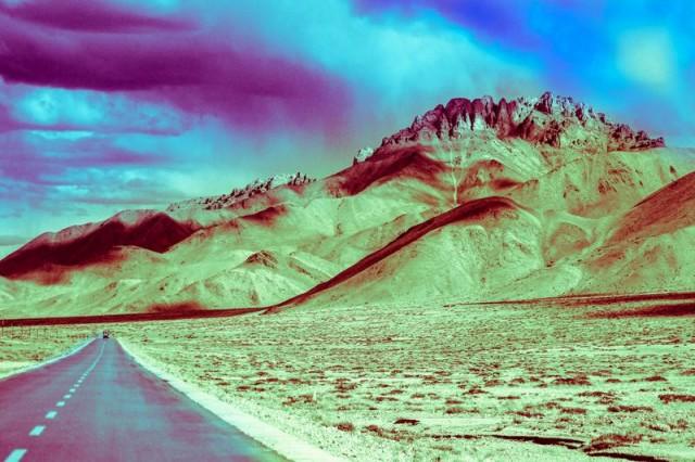 Тибет. Крашеное чб