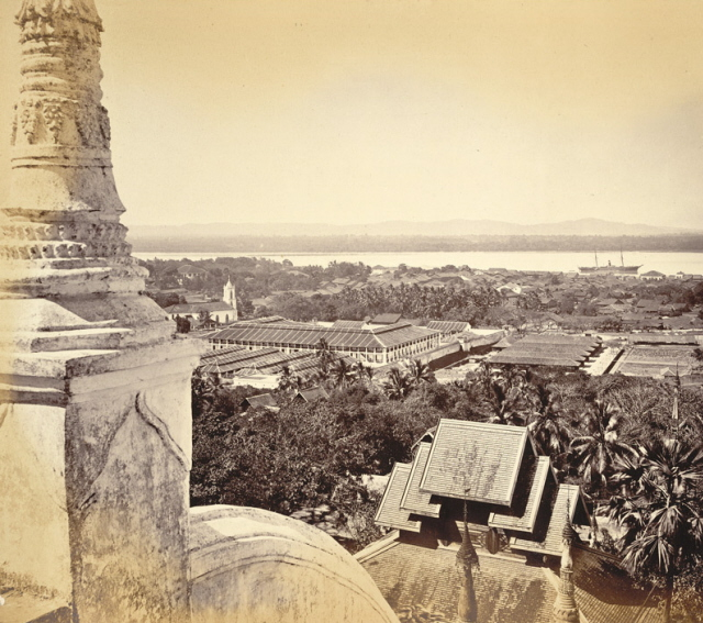 Samuel Bourne. 1870. Moulmein from the Great Pagoda