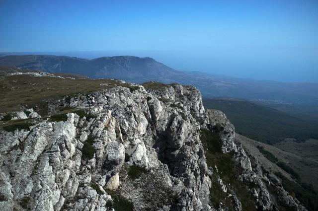 Вид с главной вершины Чатырдага, Эклези-Бурун