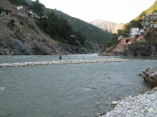 "Devprayag - where the rivers Bhagirathi & Alaknanda meet to form ""The Ganga"""