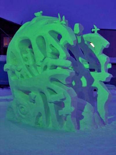 Эта композиция из снега заняла первое место в конкурсе