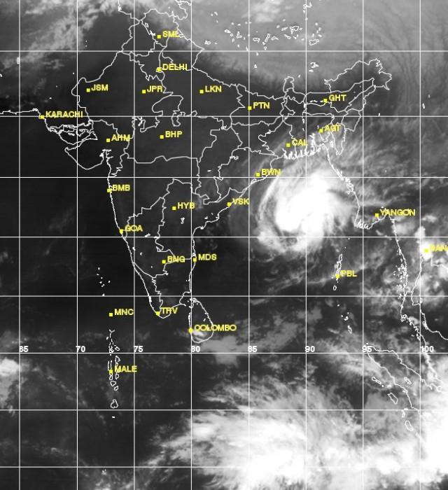 движение циклона ( на 17 ноября)