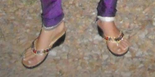 купленные за 10 мин.  сандалии