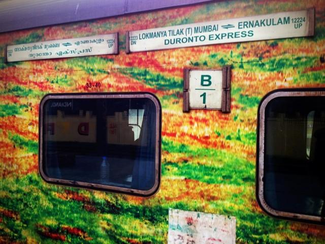 Поезд Мумбаи-Кочи. Вид снаружи.