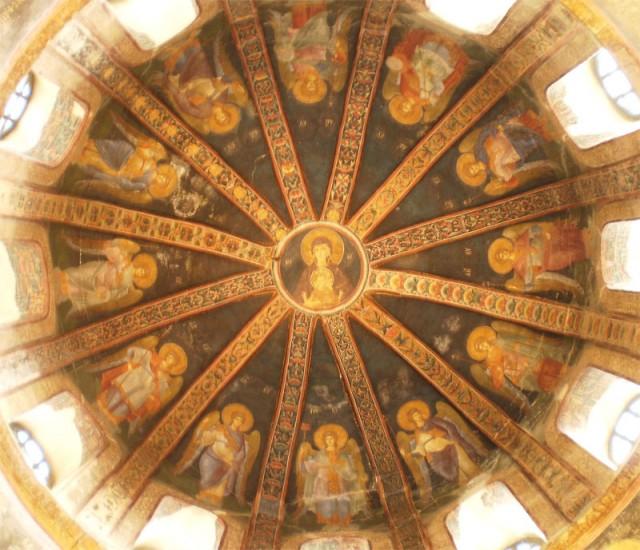 Богоматерь Влахернская с ангелами