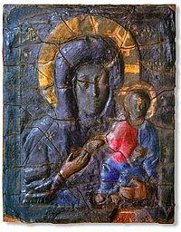 Икона Влахернской Богоматери, которая сейчас хранится в Третьяковской галерее.