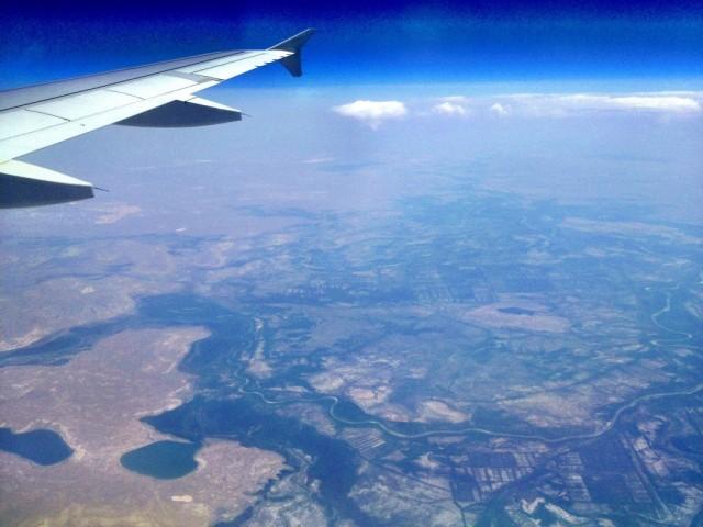 Летим над Аральским морем