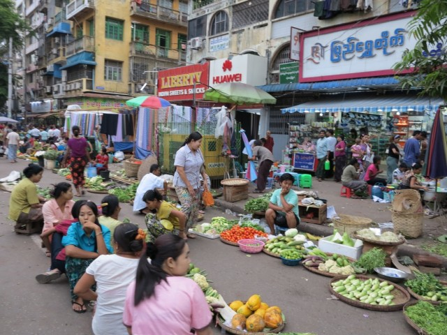 Улицы Янгона