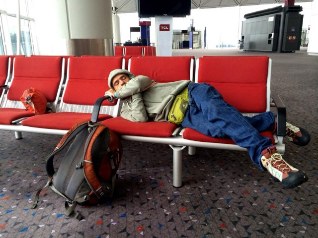 В аэропорту Гонконга перед посадкой